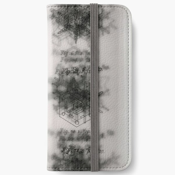Scoresby's Snowflakes layered iPhone Wallet