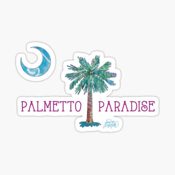 Palmetto Paradise by Jan Marvin Sticker