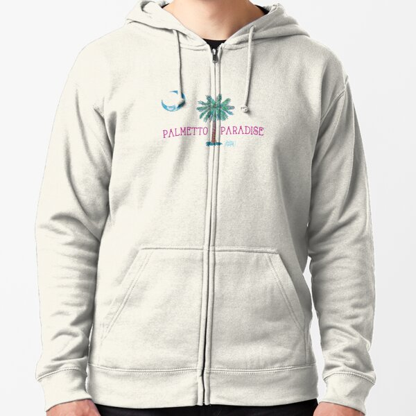 Palmetto Paradise by Jan Marvin Zipped Hoodie
