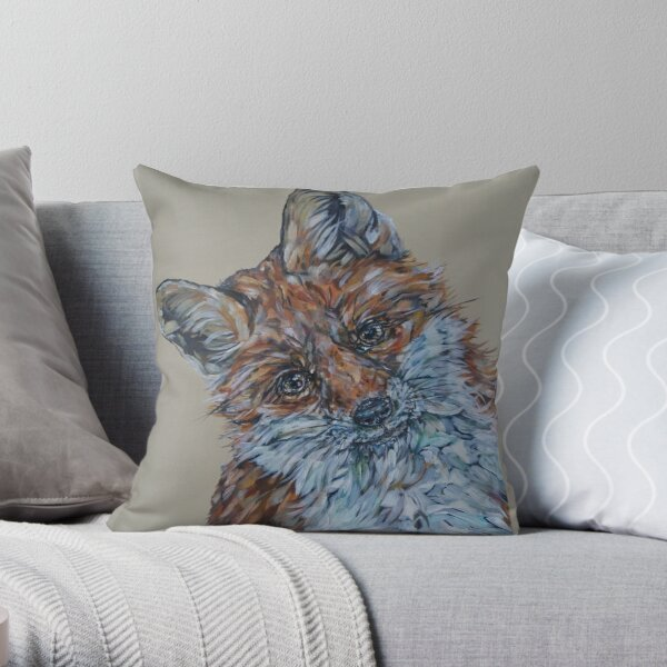 What Chicken? Best-selling Fox Art by Sam Fenner Throw Pillow