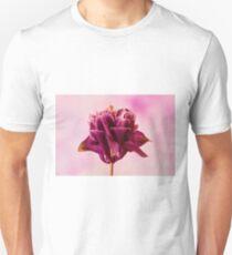 Burgundy Pink Columbine Macro Unisex T-Shirt