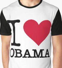I Love Obama Graphic T-Shirt