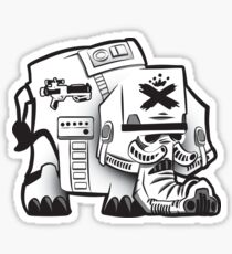 Storm Troopin' Elephant Sticker