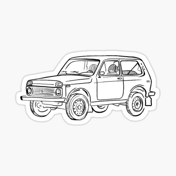 Lada Niva Sticker