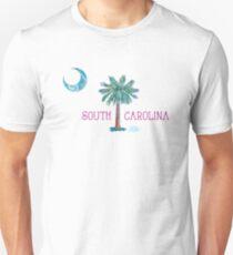 South Carolina Palmetto Tree and Moon by Jan Marvin Unisex T-Shirt