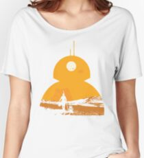 Star Wars The Force Awakens BB8 Poster Women's Relaxed Fit T-Shirt