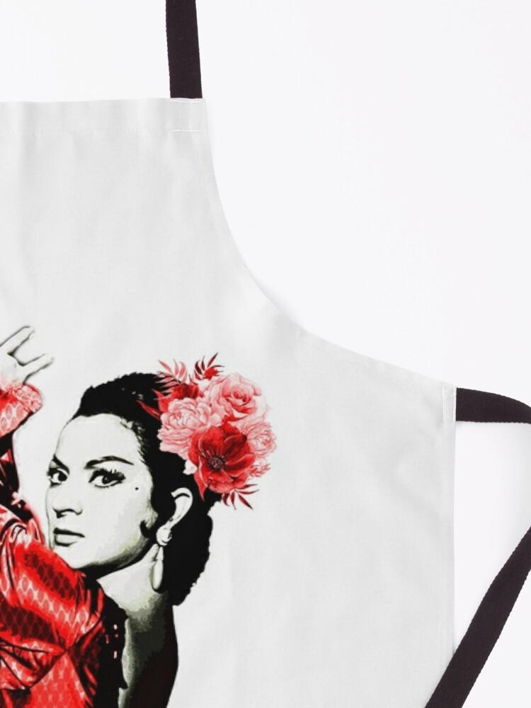 Vista alternativa de Delantal Lola Flores vestido rojo
