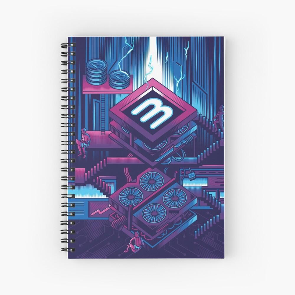 Crypto Mining Venture Spiral Notebook