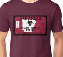 Zombie Hunting Permit - ARKANSAS Unisex T-Shirt