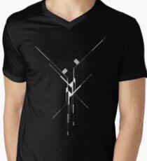 Futuristic Geometric Lines Men's V-Neck T-Shirt