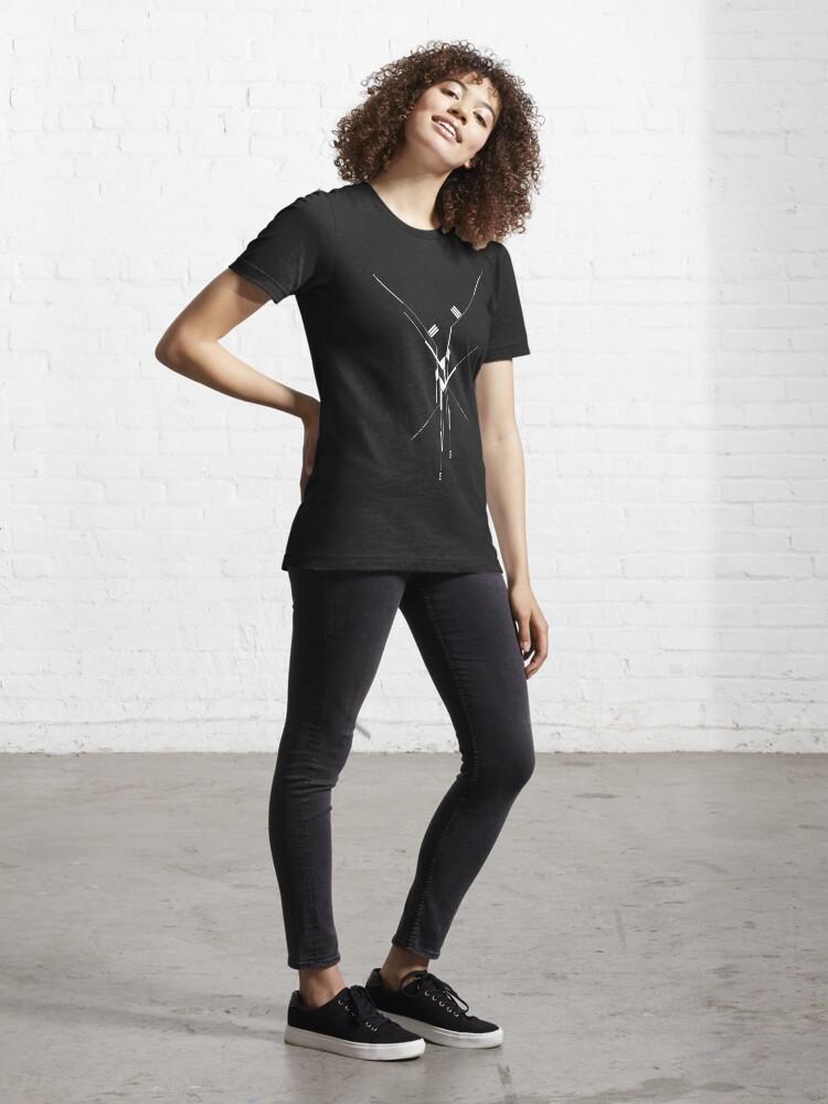Alternate view of Futuristic Geometric Lines Essential T-Shirt