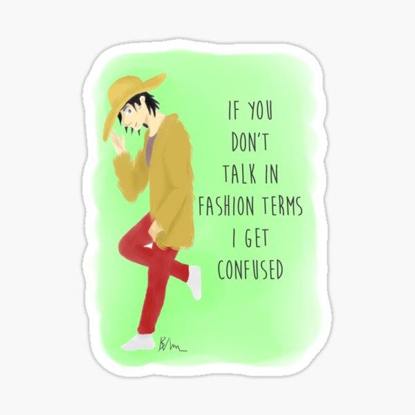 Fashion Terms Sticker