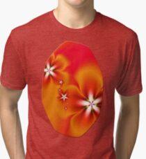 Fleur d'Automne Fractal Tri-blend T-Shirt