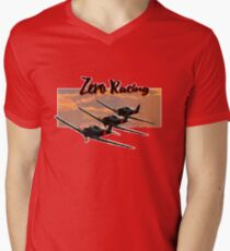 Zero Racing Mens V-Neck T-Shirt