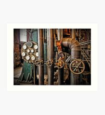 The Old Pumping Station - Steam Engine Art Print