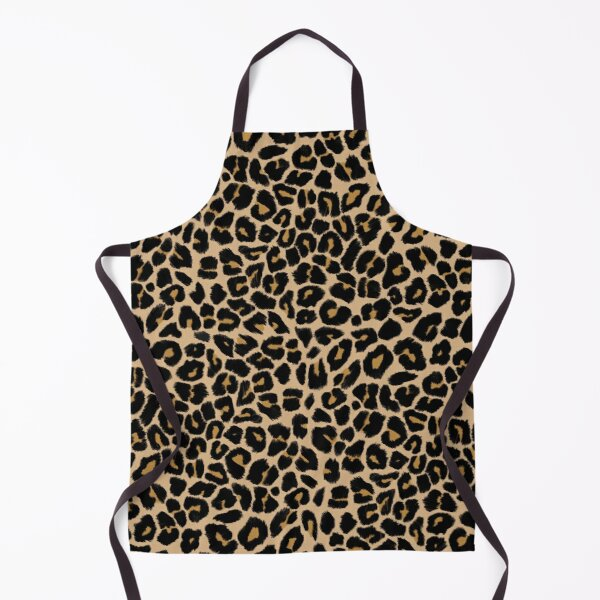 Leopard Print Traditional Colours Apron