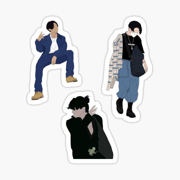 Paquete de pegatinas de looks icónicos de Jungkook Pegatina