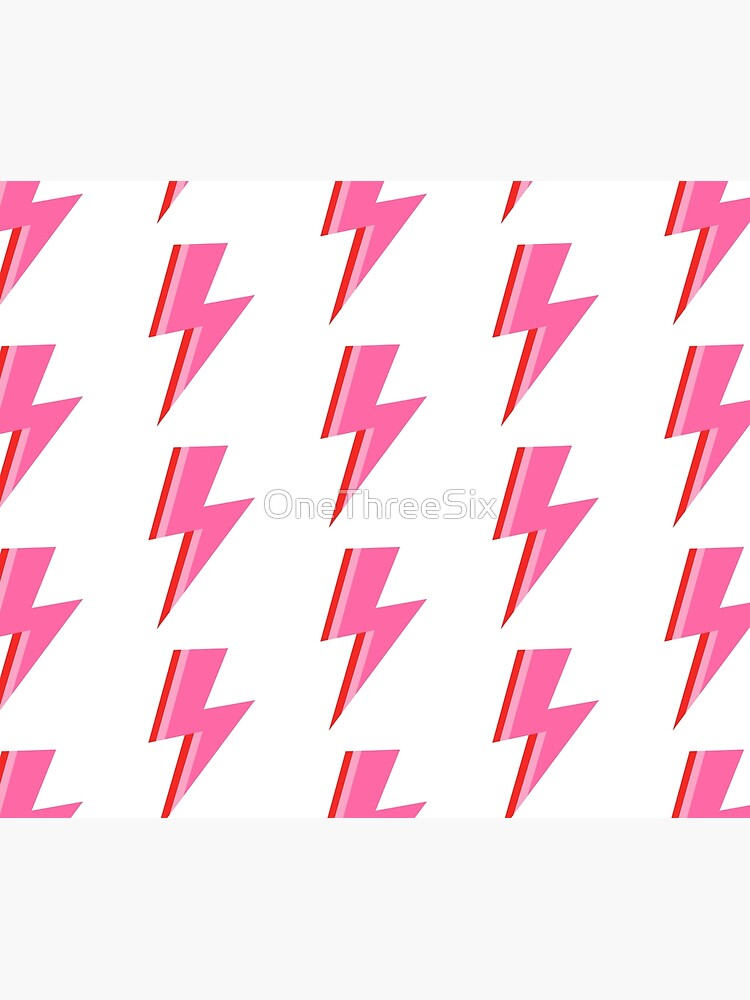Pink and Red Striped Lightning Strike by OneThreeSix