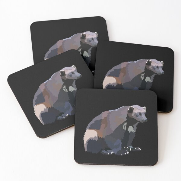 W is for Wolverine  Coasters (Set of 4)