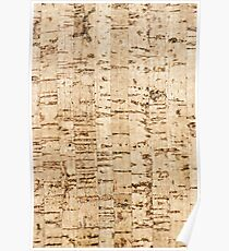 Cork oak pattern Poster