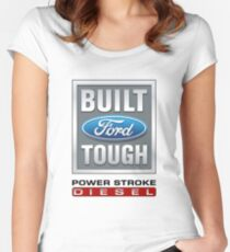 Built Ford Tough PowerStroke Diesel Women's Fitted Scoop T-Shirt
