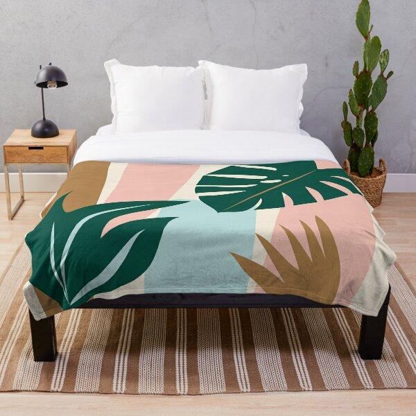 Jungle Palm Throw Blanket