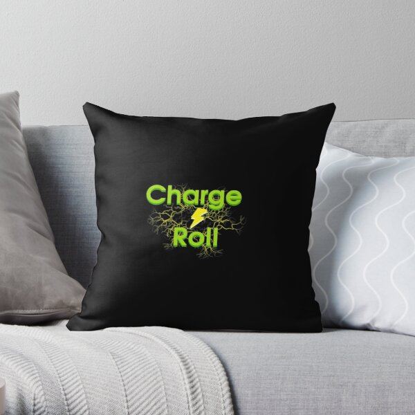 Electric car charge & roll v4 Throw Pillow
