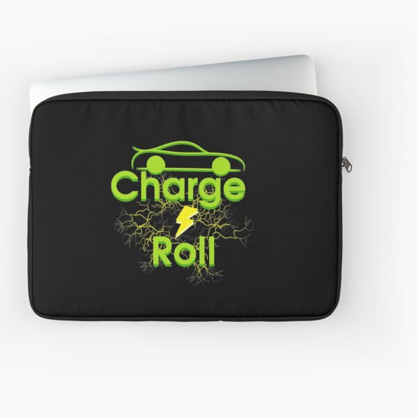 Electric car charge & roll v5 Laptop Sleeve