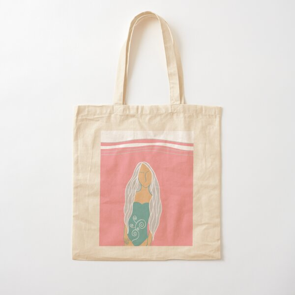 Summer Girl Cotton Tote Bag
