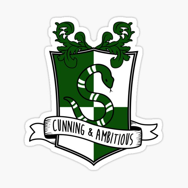 Cunning and Ambitious - S Snake Shield Sticker