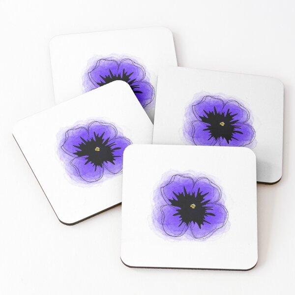 Violet  Coasters (Set of 4)