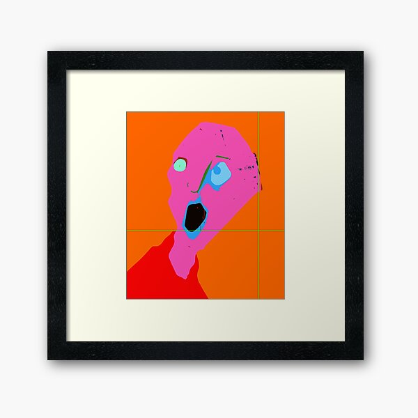 breaking up! -from the Art Biennale Athens exhibition Framed Art Print