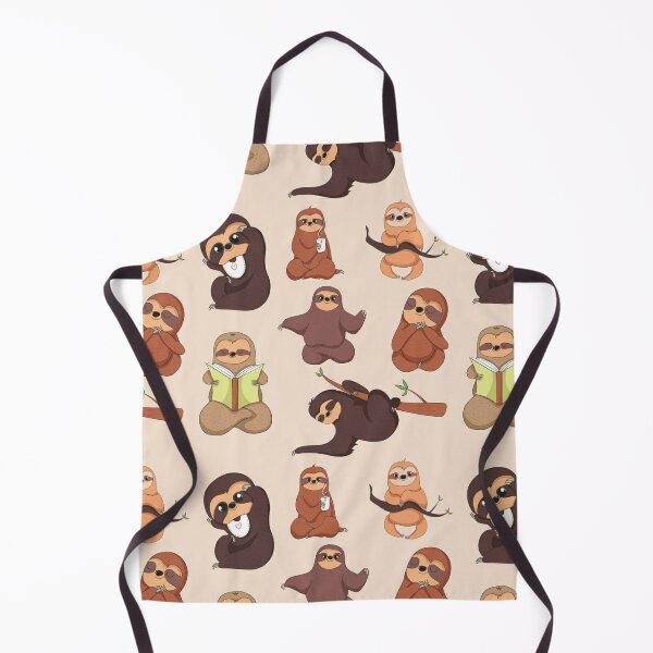 Sloth Pattern Apron