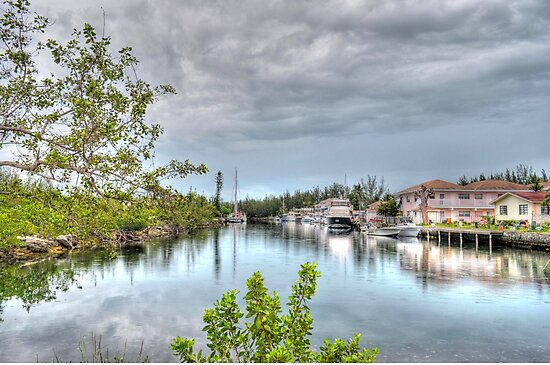 Rainy day at Coral Harbour Town in Nassau, The Bahamas by Jeremy Lavender Photography