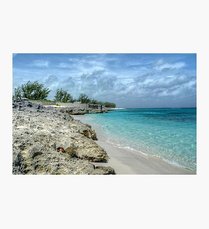 Beach in Paradise island, The Bahamas Photographic Print