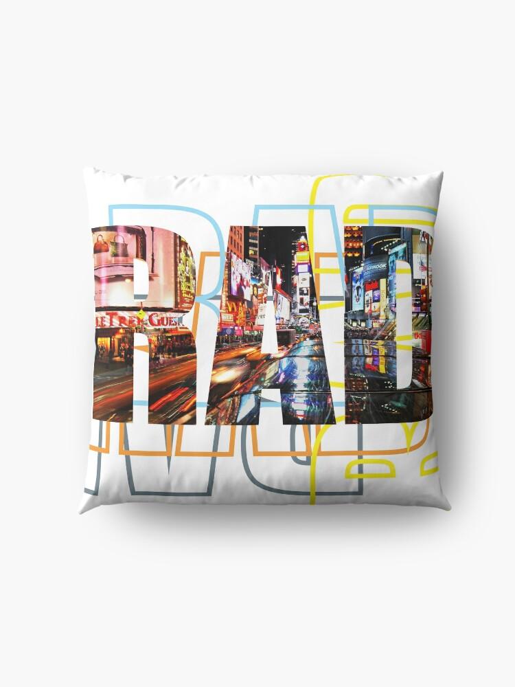 Alternate view of Life is RAD Floor Pillow