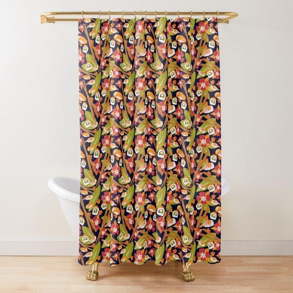 Tropical Sushi Shower Curtain