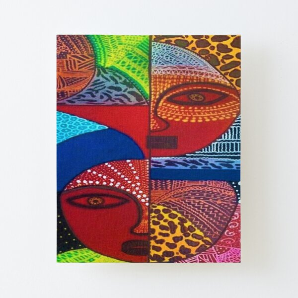 African Patterned Canvas Mounted Print