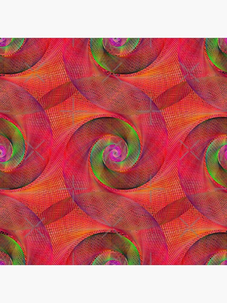 Pink Spiral Splurge by MyMadMerch