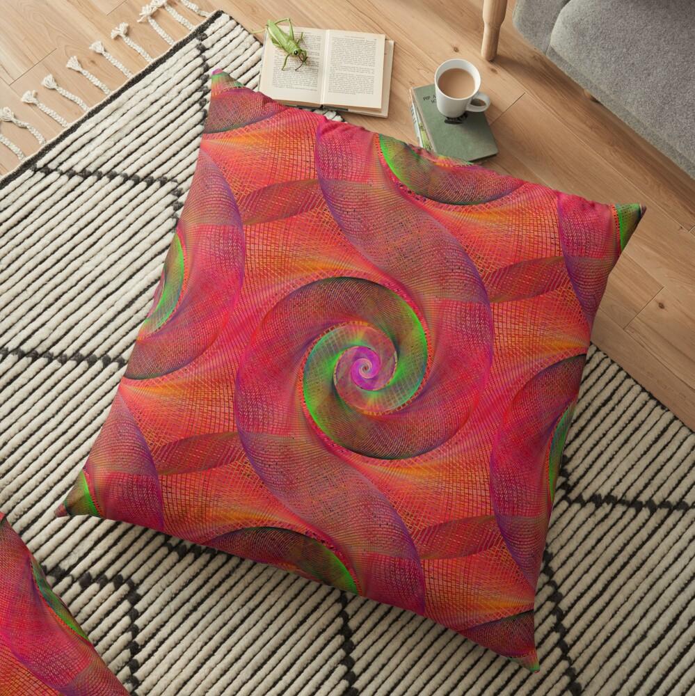 Pink Spiral Splurge Floor Pillow