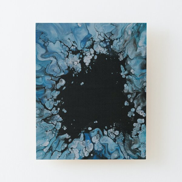 Snowy abstract pattern with negative space Wood Mounted Print
