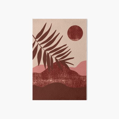 pink and red desert Art Board Print