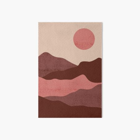 pink and red landscape Art Board Print