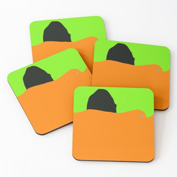 superior -by the Monsters Art Project Coasters (Set of 4)