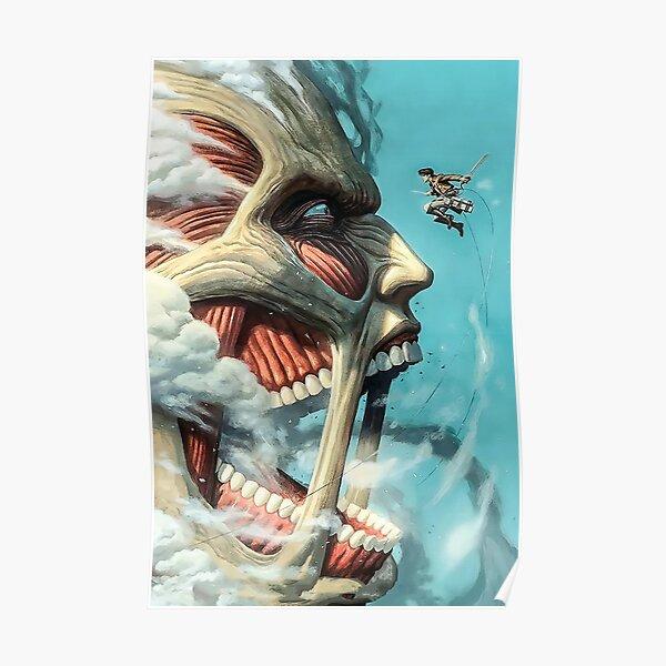 Colossal Titan vs Eren -SNK Poster