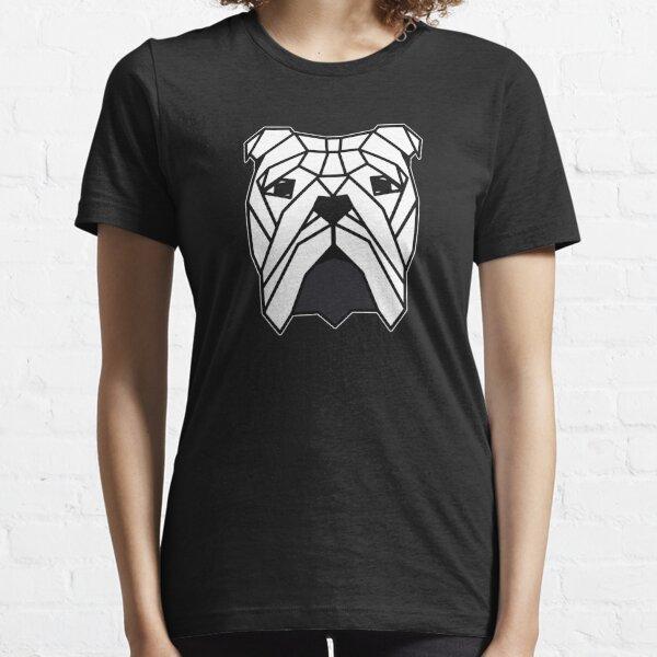 Bulldog Head Triangles Essential T-Shirt