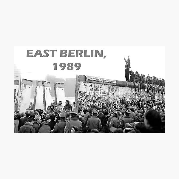 Berlin Wall Coming Down 1989 Photographic Print