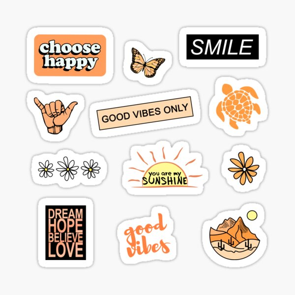 Choisissez l'orange heureuse Sticker