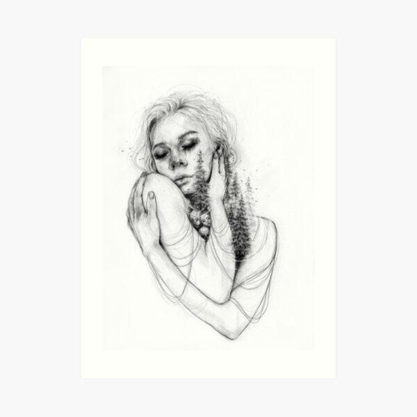Self Love_ BW Art Print