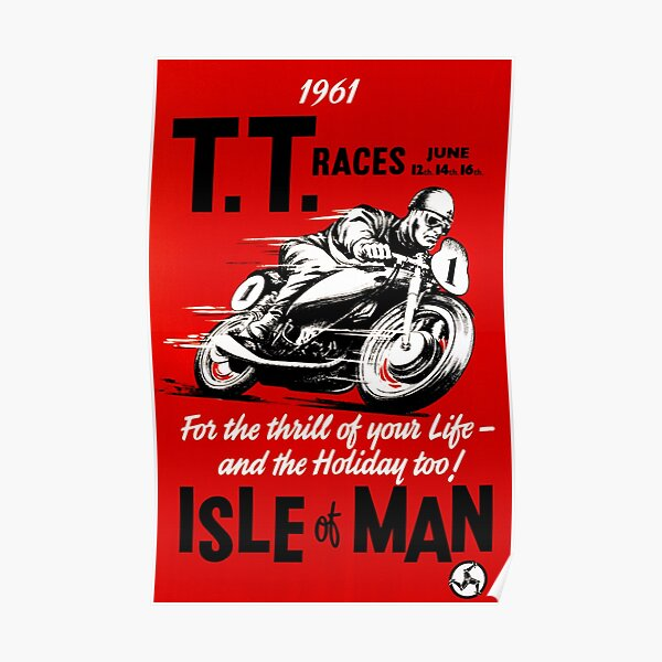 T.T Race - Isle Of Man 1961 Poster